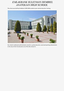 EMLAKBANK SULEYMAN DEMIREL ANATOLIAN HIGH SCHOOL