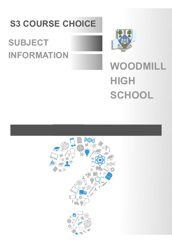 Woodmill High School S3 Course Choice 1