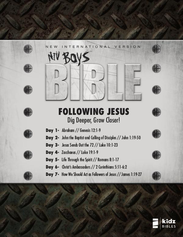 NIV Boys Bible NIV Boys Bible   Reading Plan