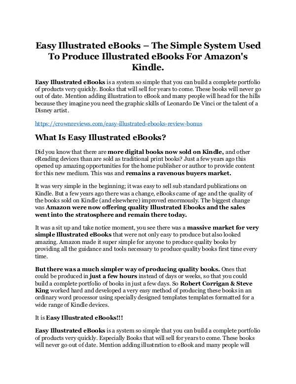 Easy Illustrated eBooks Review & (Secret) $22,300 bonus NOW Easy Illustrated eBooks review-$26,800 bonus