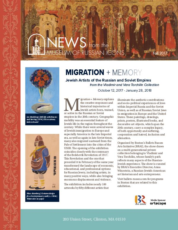 Museum of Russian Icons 2017 Fall Newsletter Volume 6