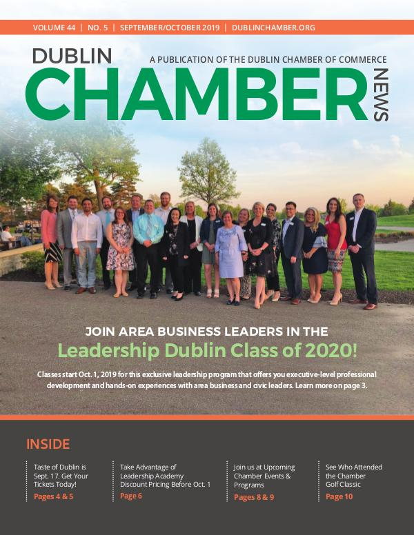Dublin Chamber Magazine September October 2019 DCCNewsSeptOct2019ONLINE