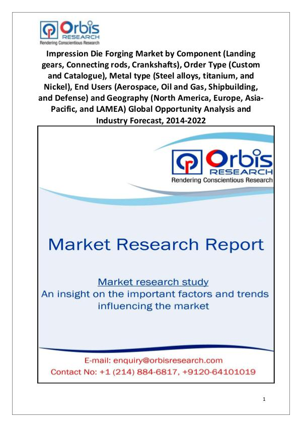 Market Research Reports Global  Impression Die Forging Industry