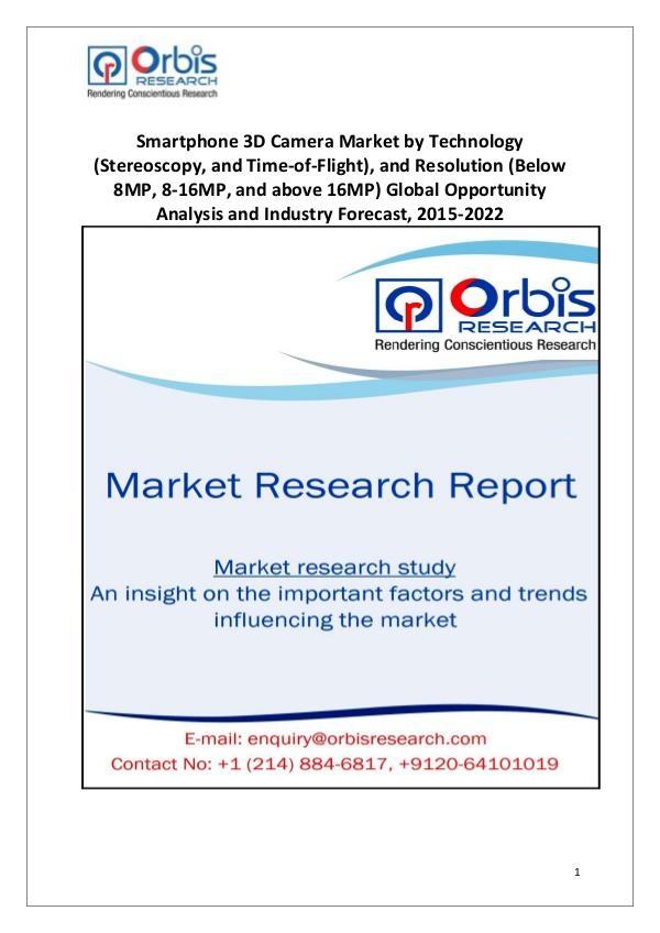 Market Research Reports 2022 Global Smartphone 3D Camera Industry