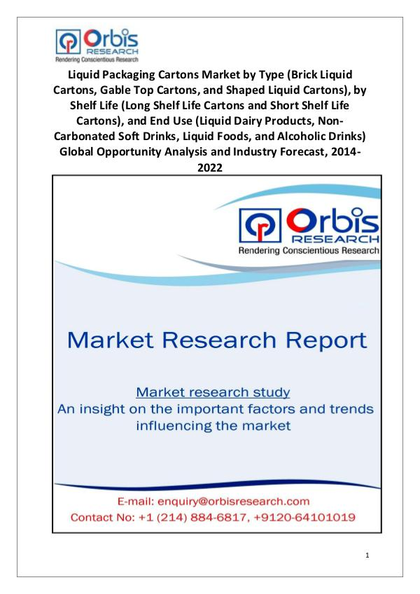 Market Research Reports Liquid Packaging Cartons Market Worldwide