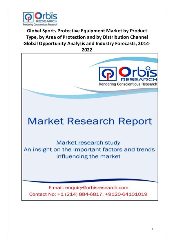 Market Research Reports Sports Protective Equipment Industry Worldwide