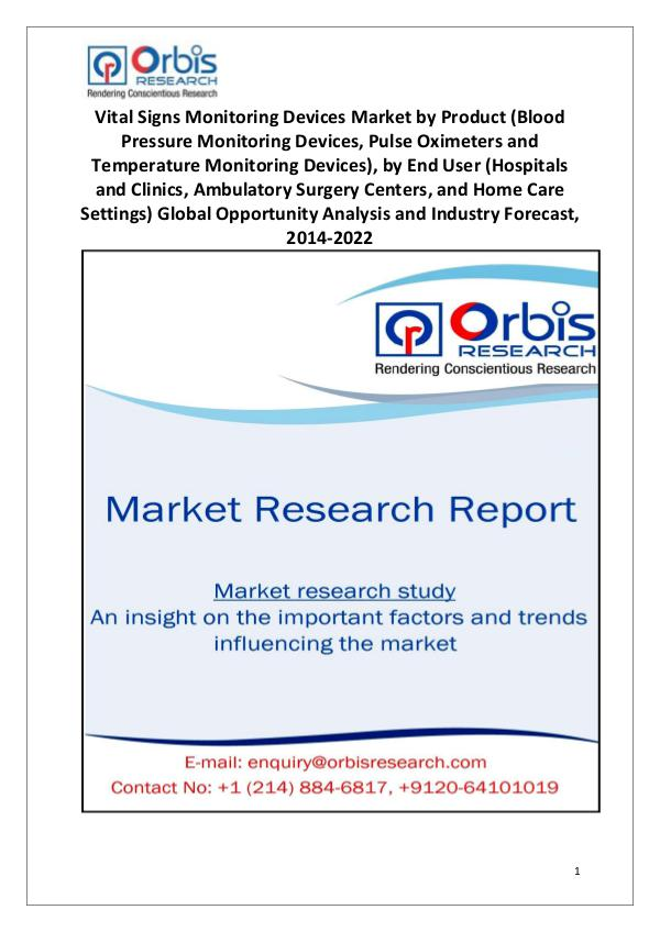 Worldwide Vital Signs Monitoring Devices Market