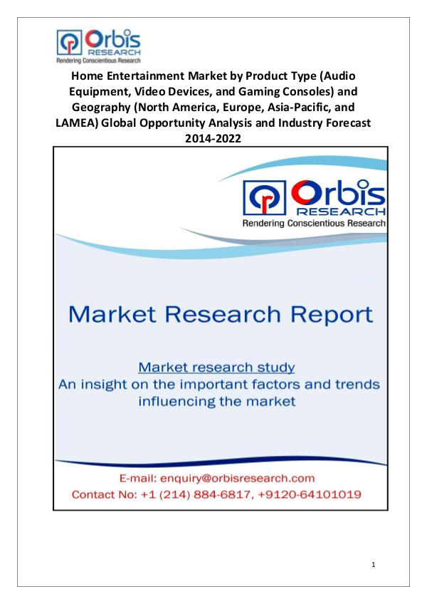 Market Research Reports Globally Home Entertainment Industry 2014