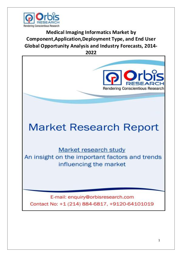 Market Research Reports Medical Imaging Informatics Market Globally