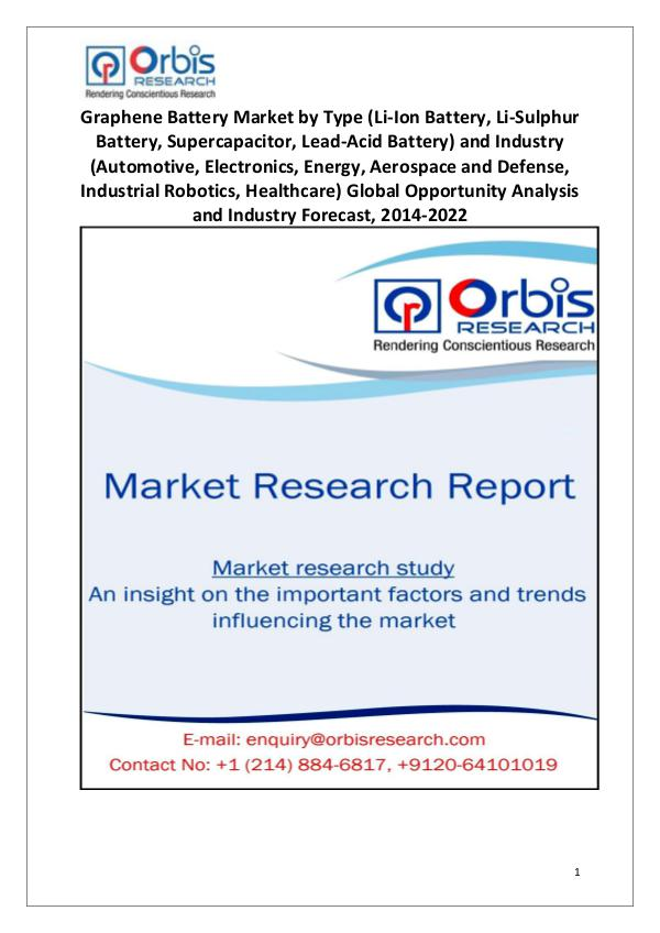 Market Research Reports Worldwide Graphene Battery Industry 2014-2022