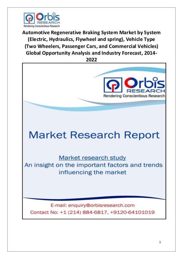 Market Research Reports Automotive Regenerative Braking System Market