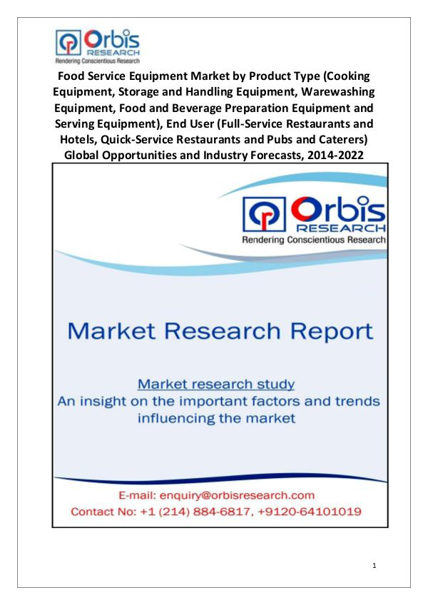2014 Food Service Equipment Market Globally