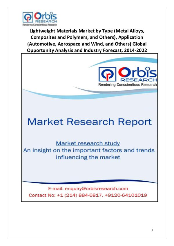 Lightweight Materials Market Globally