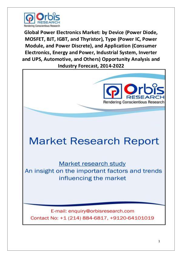 Worldwide Power Electronics Market