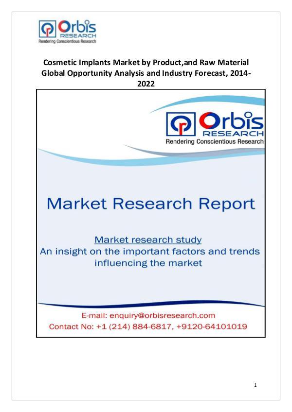Market Report Study Cosmetic Implants Industry Worldwide