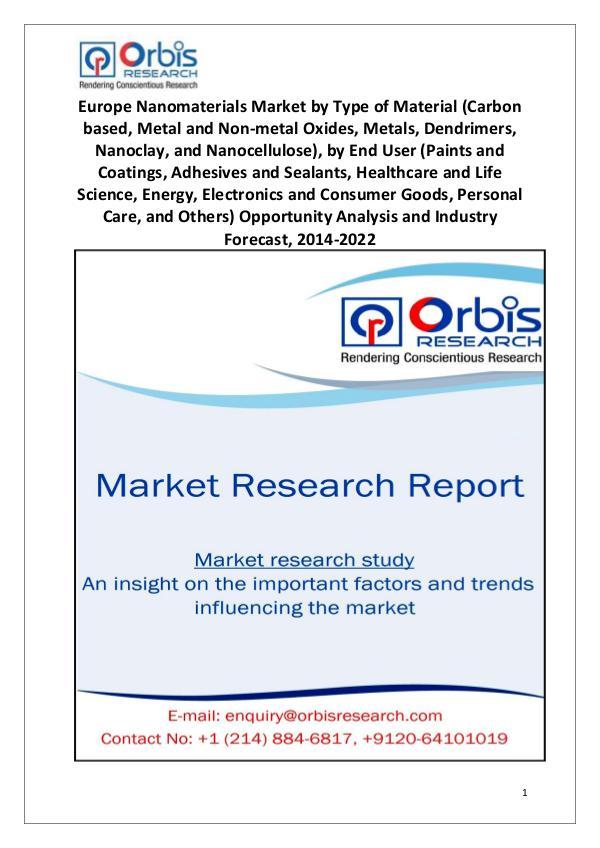 Market Report Study Europe Nanomaterials Industry 2022 Forecast