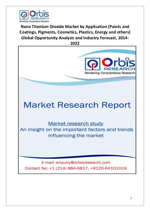 Market Report Study Worldwide Nano Titanium Dioxide Market