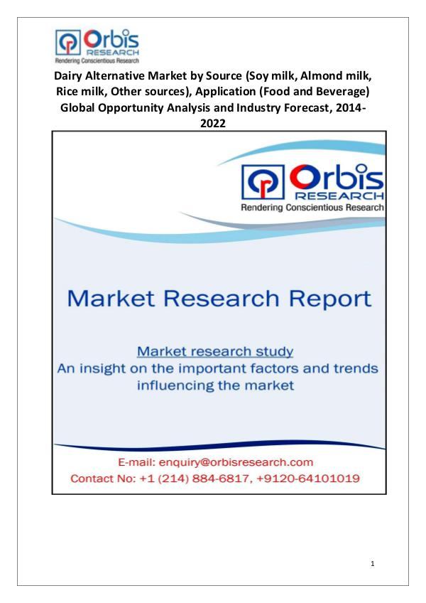 2014-2022 Global Dairy Alternative Market