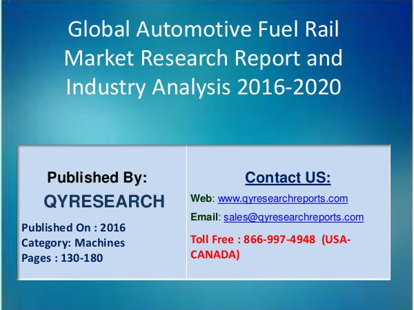 Automotive Fuel Rail Market 2016 Analysis 1