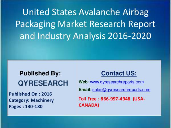 United States Avalanche Airbag Packaging Set to Grow Exponentially by 3