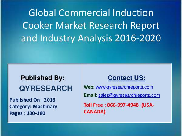 Global Commercial Induction Cooker Industry 2016 Best Market 6