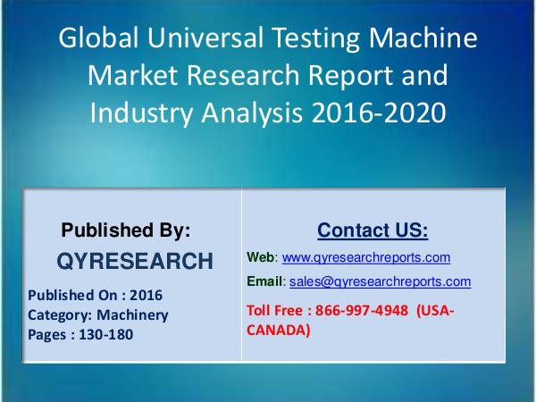 Universal Testing Machine Market Aims To Increase Shares Worldwide 4