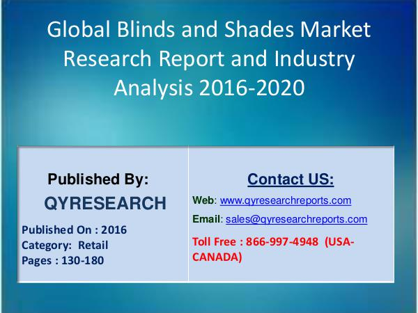 Blinds and Shades Market Aims To Increase Shares Worldwide: Segment 3