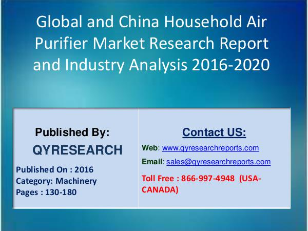 Global and China Household Air Purifier 2016 Market 8