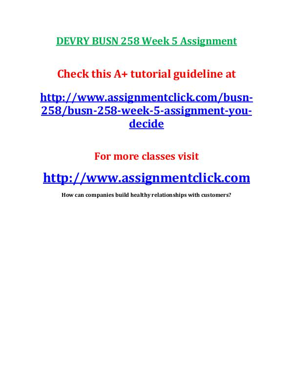 week 7 assignment busn 420 Busn 420 entire course business law - devry usn 420 week 1 assignment busn 420 week 1 quiz busn 420 week 2 assignment busn 420 week 2 quiz busn 420 week 3.