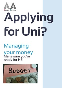 Applying for Uni - Managing Your Money