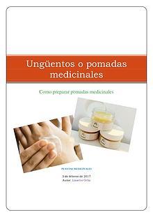Ungüentos o pomadas medicinales