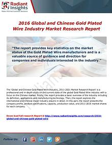 Global and Chinese Gold Plated Wire Industry 2016 Key Targets