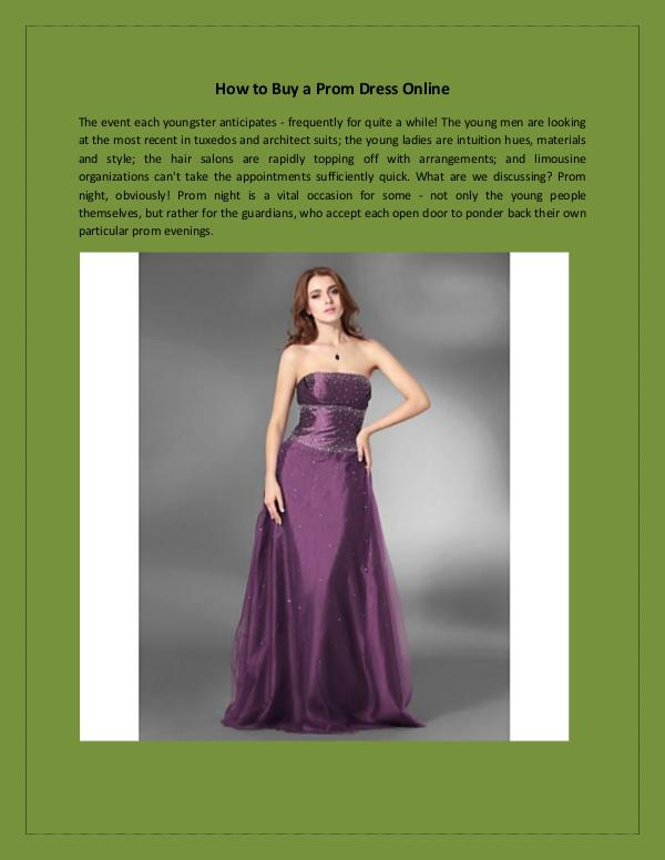 How to Buy a Prom Dress Online? How to Buy a Prom Dress Online?