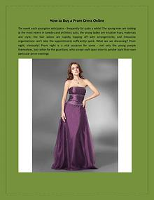 How to Buy a Prom Dress Online?