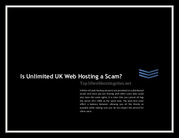 Is Unlimited UK Web Hosting a Scam? Is Unlimited UK Web Hosting a Scam?