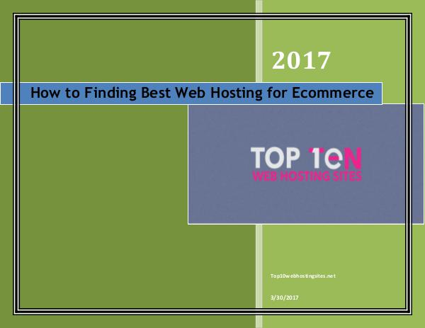 How to Finding Best Web Hosting for Ecommerce How to Finding Best Web Hosting for Ecommerce