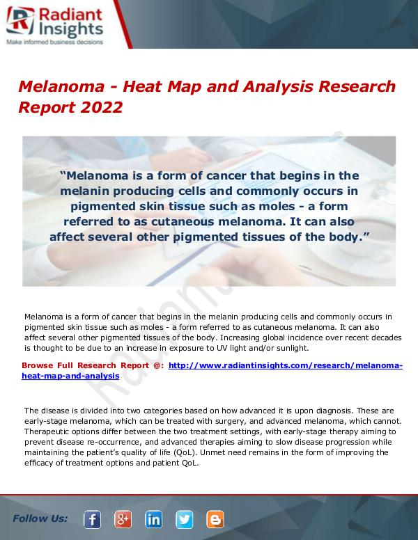 Melanoma - Heat Map and Analysis