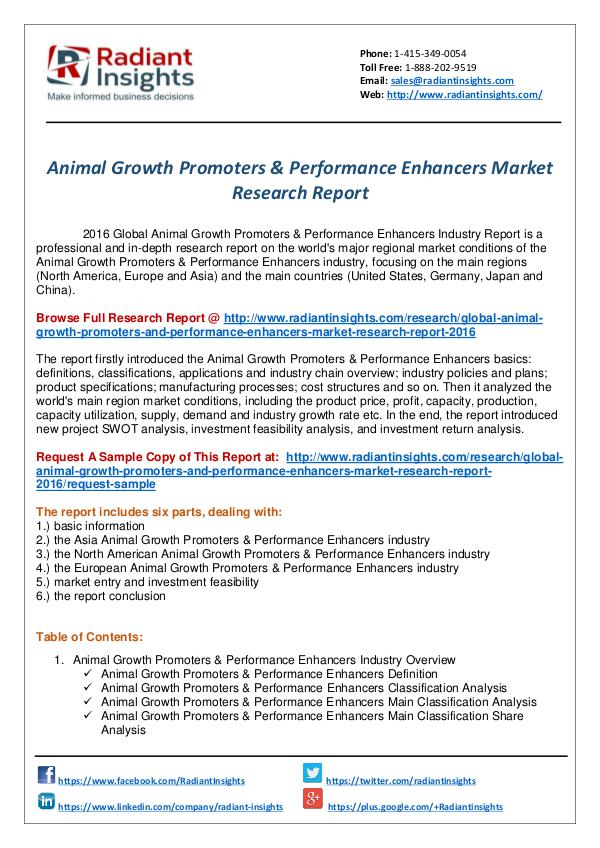 Research Analysis Reports Animal Growth Promoters  Performance