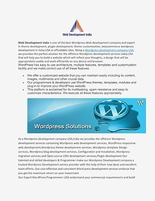Wordpress development company USA