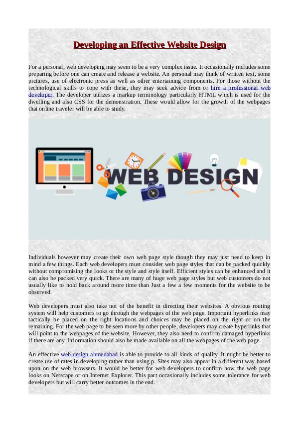 The Area of Aerospace Engineering Developing an Effective Website Design
