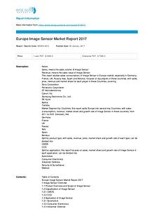 Europe Image Sensor Market Report 2017