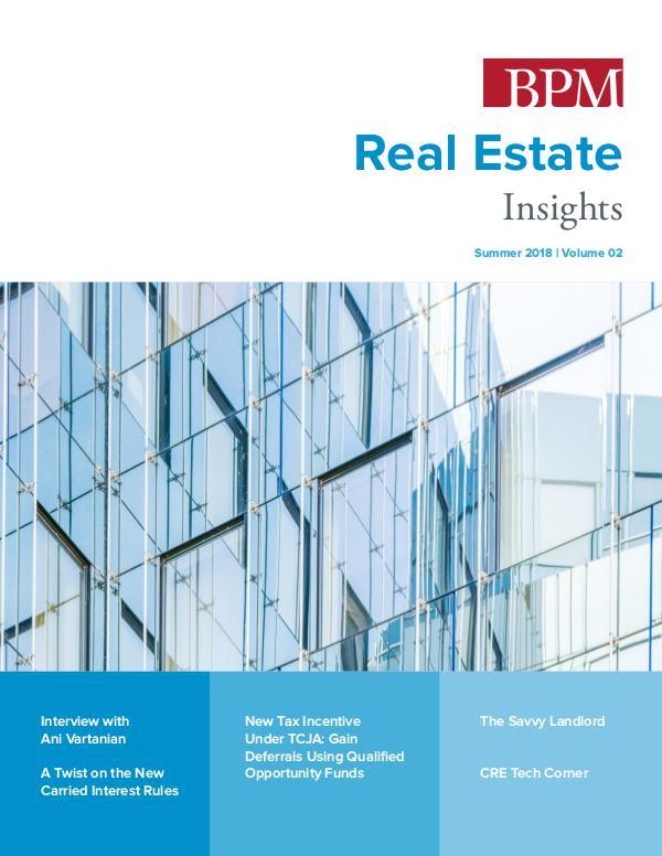 Real Estate Insights Volume 02   Summer 2018