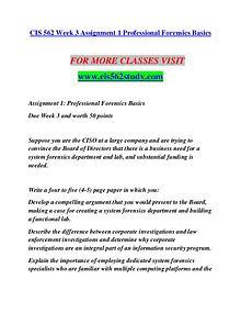 CIS 562 STUDY Invent Yourself/cis562study.com