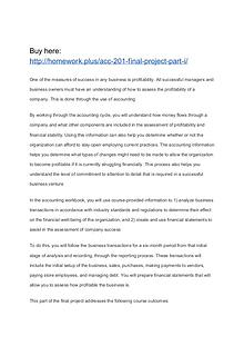 ACC 201 Final Project Part I