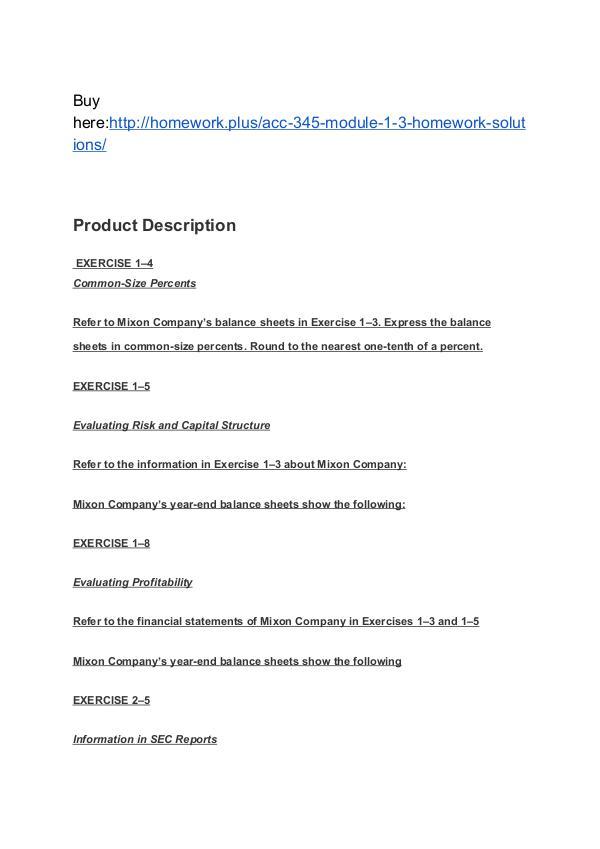 ACC 345 Module 1-3 Homework (solutions) SNHU