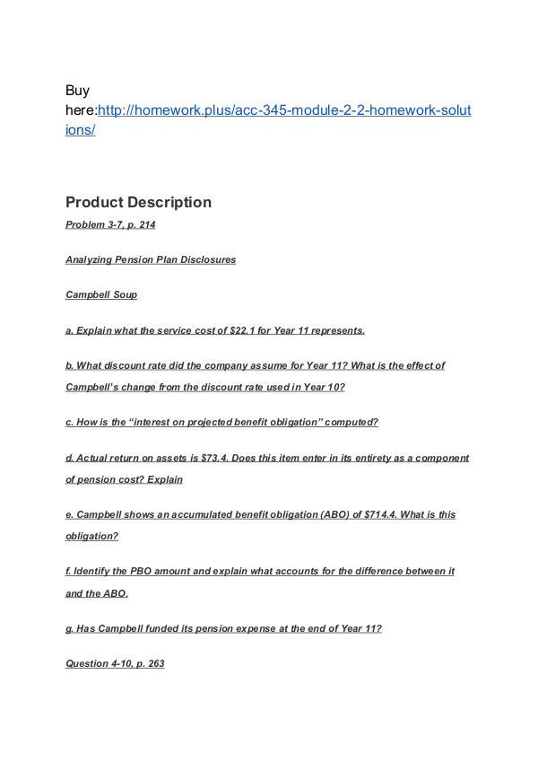 ACC 345 Module 2-2 Homework (solutions) SNHU