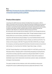 ACC 620 Final Project Final Submission Financial Reporting Series Por