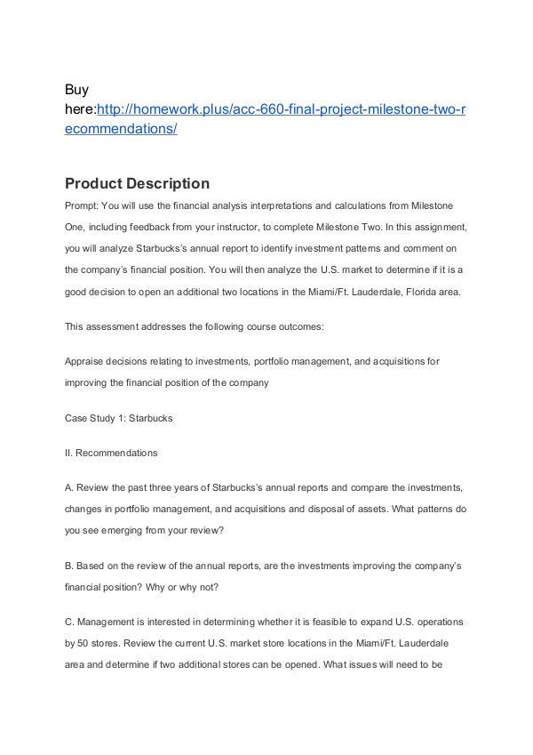 ACC 660 Module Four Presentation Financial Health SNHU