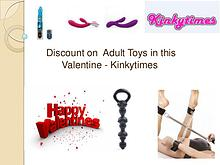 Discount on Adult Toys in this Valentine - Kinkytimes