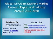 Ice Cream Machine Market 2016 Forecast by Global Market Drivers